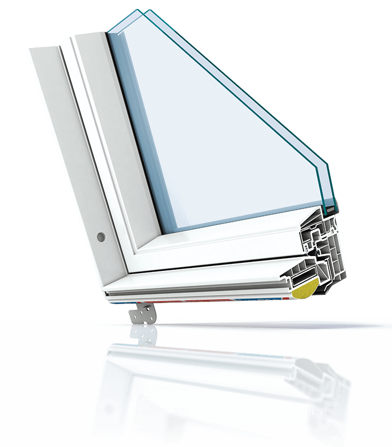 Polar PVC Cut Corner Roof Window