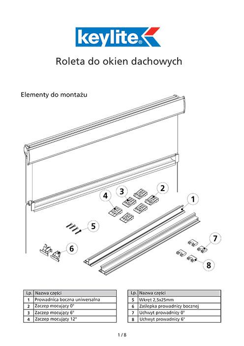 Instrukcja montażu rolety dachowej do okien drewnianych