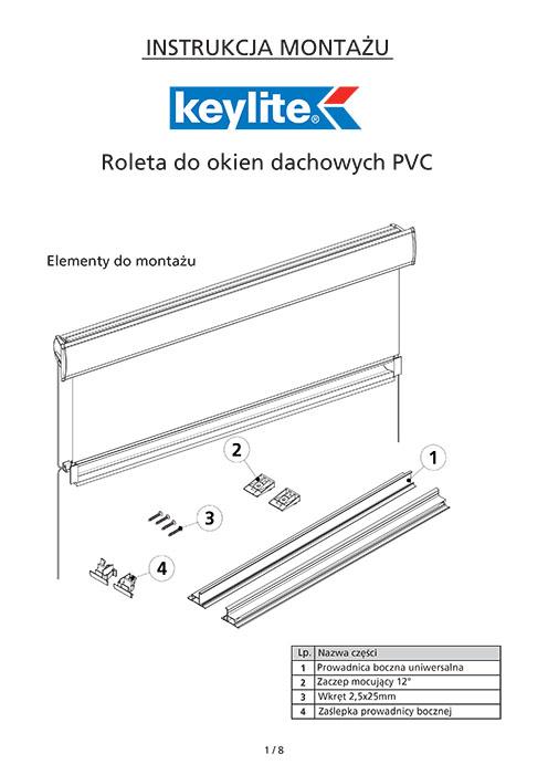 Instrukcja montażu rolety dachowej do okien PVC