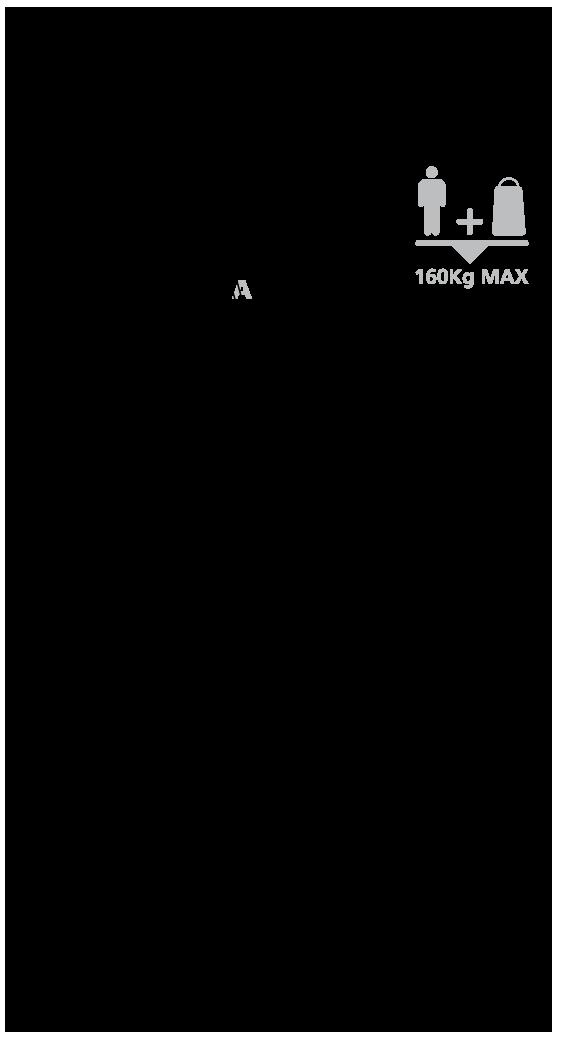 Trzy segmentowe schody Keylite