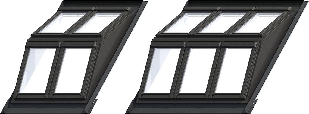 System Dormer DRX Układ okien