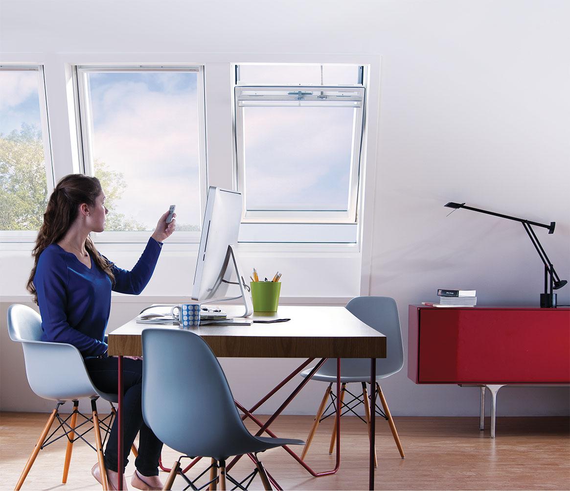 Elektryczne sterowanie okien dachowych