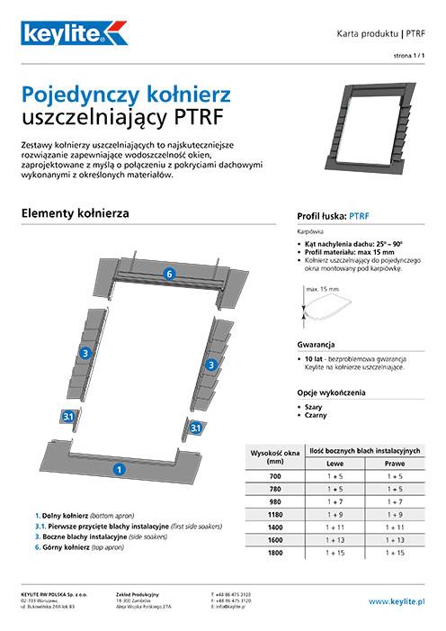 Karta produktu - Kołnierz pojedynczy PTRF