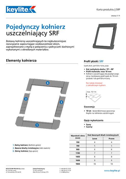 Karta produktu - Kołnierz pojedynczy SRF