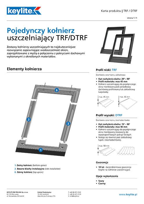 Karta produktu - Kołnierz pojedynczy TRF-DTRF