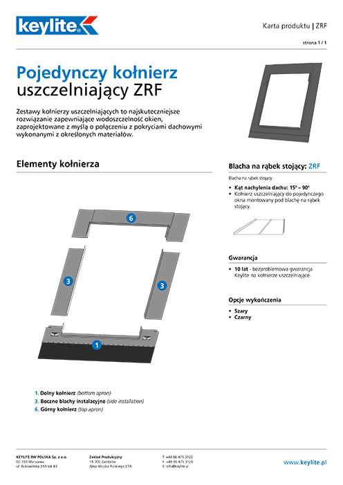 Karta produktu - Kołnierz pojedynczy ZRF