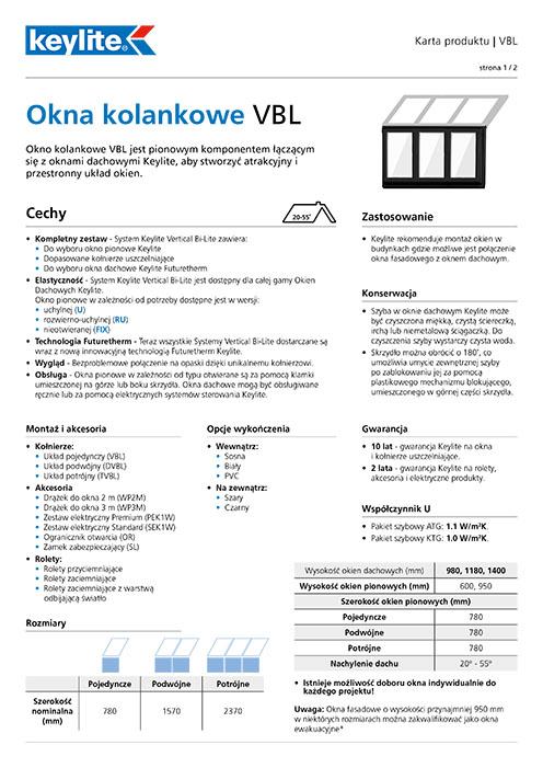 Karta produktu - Okna kolankowe VBL