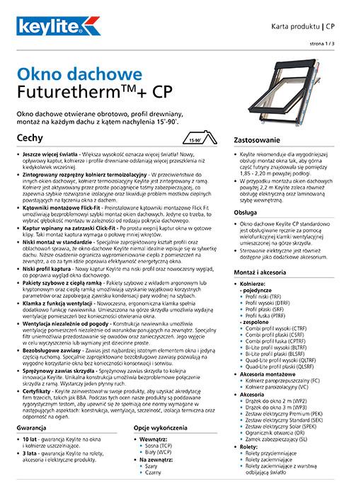 Karta produktu - Okno dachowe CP FT+