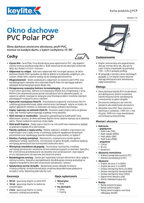 Karta produktu - Okno dachowe PCP PVC Polar