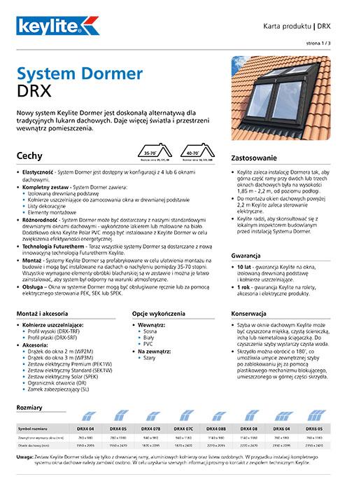 Karta produktu - System Dormer