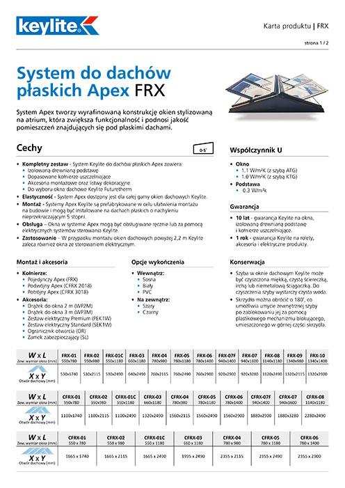 Karta produktu - System do dachów płaskich Apex