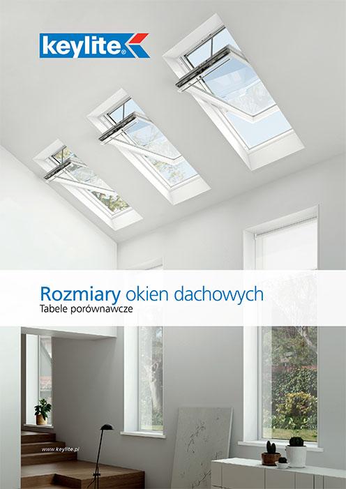 Rozmiary okien dachowych Keylite